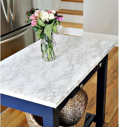 diy faux marble counter top