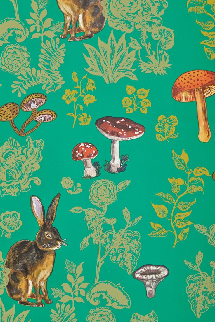 Mushroom Forest Wallpaper - anthropologie.com Nathalie Lete