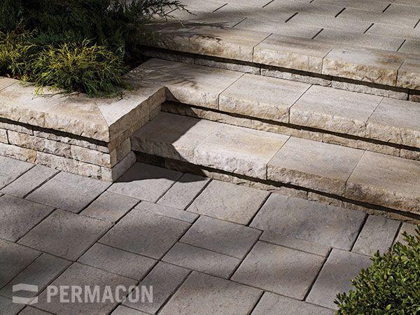 Permacon Walls Lafitt Range Margaux Beige Pavers Mondrian