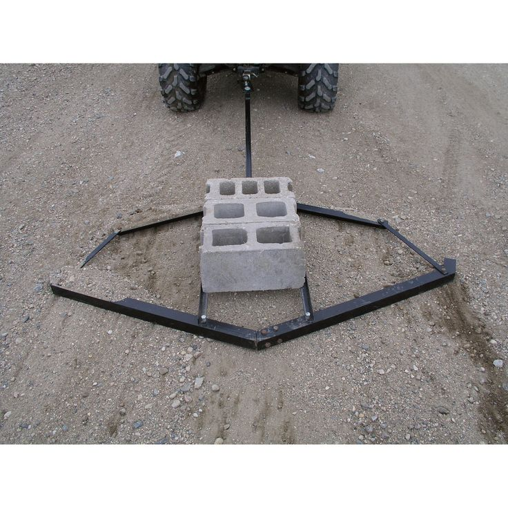Use this to level your yard, driveway or parking lot. Support bars accommodate standard concrete blocks; up to 50 lbs. of extra weight. Tows easily behind an ATV or Lawn Tractor.