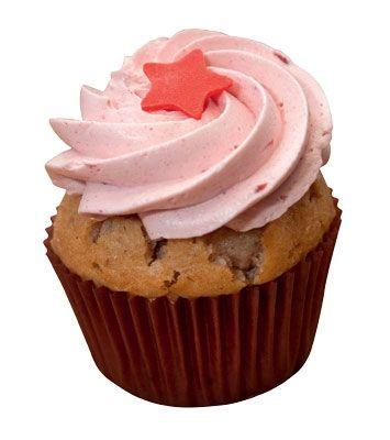 Jordbær-cupcakes
