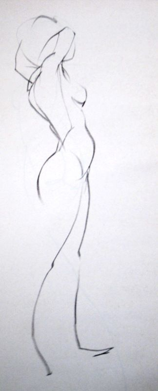 Art of the curve...beautiful. Figure and Head studies in charcoal, graphite, pen and paint.. - Page 3:
