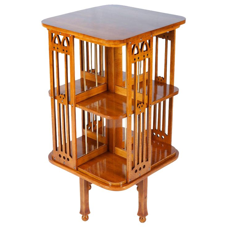 Very Rare Thonet Revolving Bookcase Attributed to Josef Hoffmann