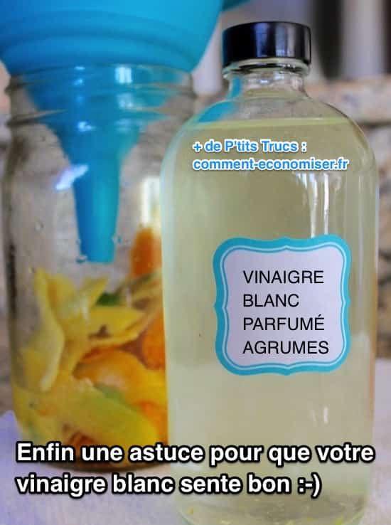 enlever les zestes du vinaigre et mettez dans bouteille