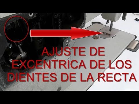 Ajuste del excentrico de la recta industrial | mecanica confeccion
