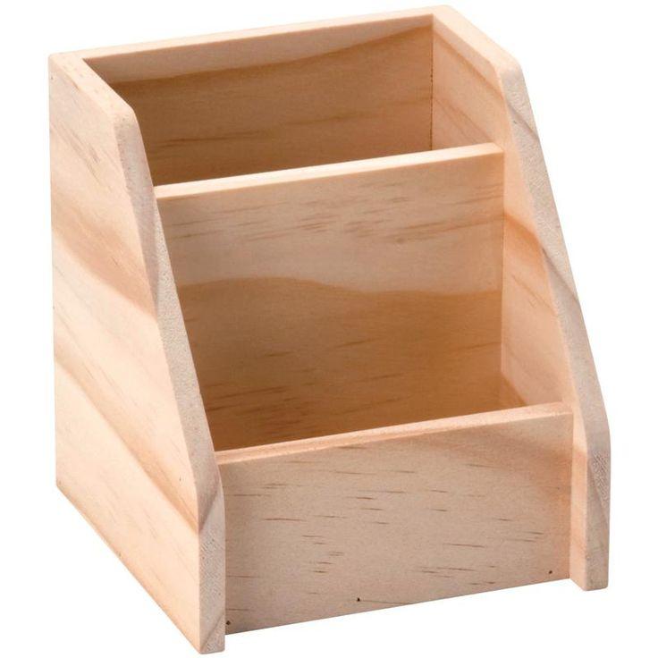 Compra nuestros productos a precios mini Portalápices de madera 2 compartimentos 11 cm - Entrega rápida, gratuita a partir de 60 € !