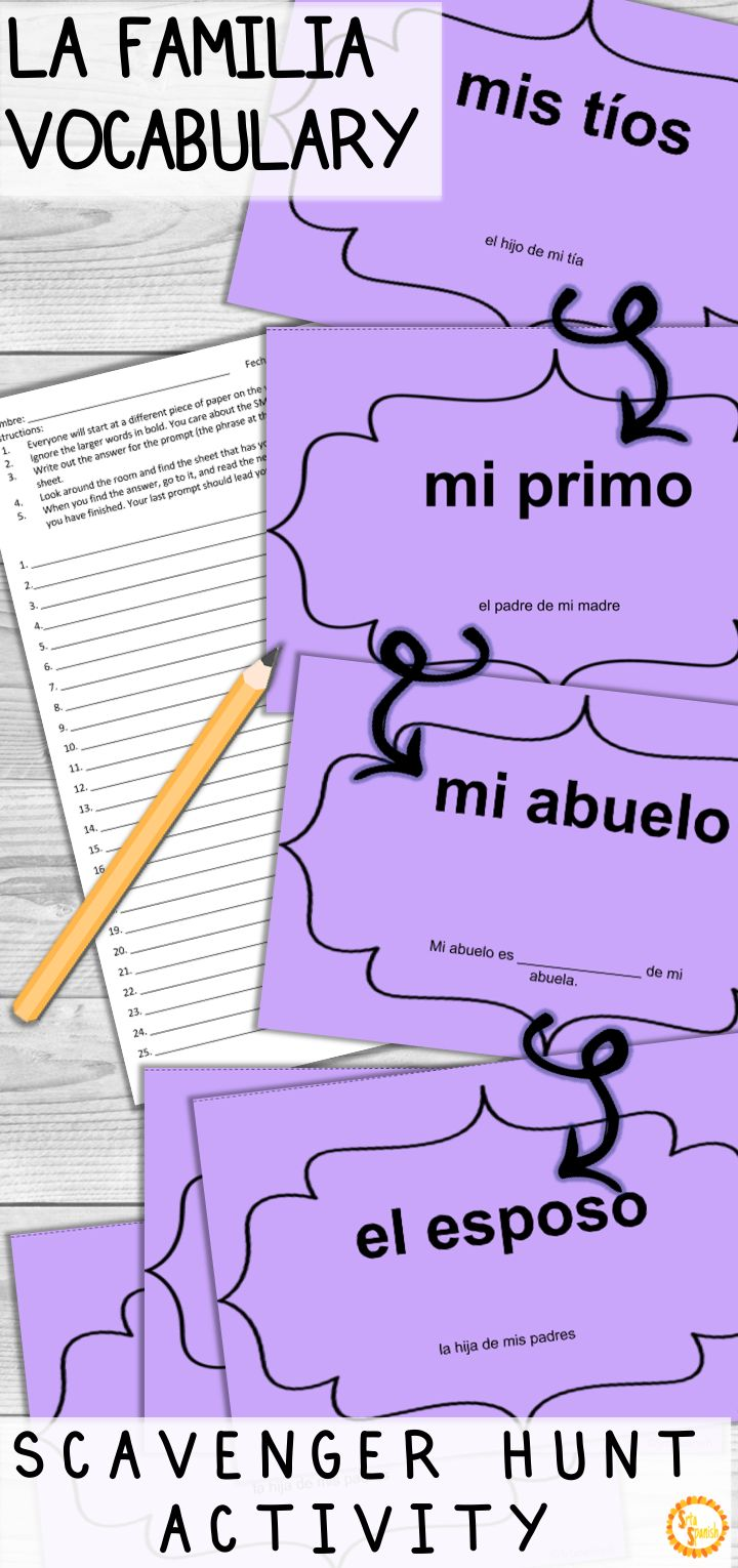 Looking for a fun game to practice LA FAMILIA and family vocabulary with your Spanish classes? This hands-on activity will get your students up and moving, while providing instant feedback! Ditch the worksheet - this is so fun, you have to try it! Click to see how!