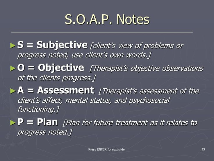 behavioral health soap note