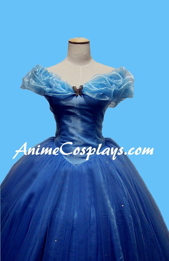 2015 Disney Cinderella Princess Ella Dress Cosplay Costume