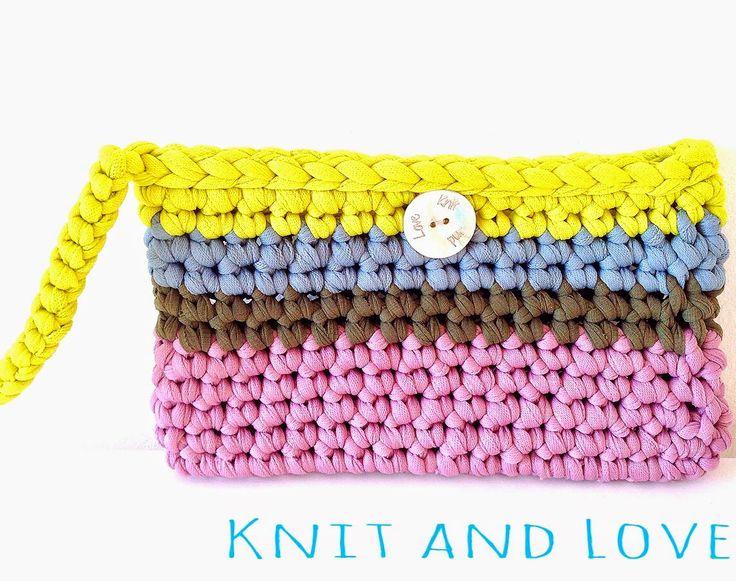 BOLSO DE MANO MULTICOLOR A CROCHET / Knit and Love