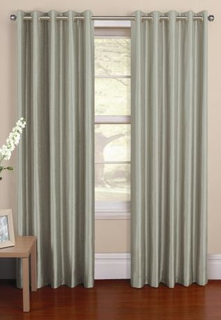 Amalfi Silver Lined Curtains - choosing floor length curtains will draw the eye upwards