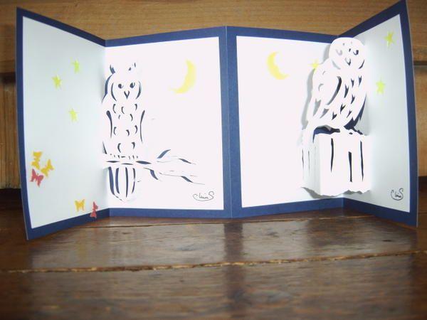 Lina Servello. vous offre quelques gabarits de pop-up, 3d, kirigami... de sa création. N o tice: découpez à la lame les traits noirs continus, pliez les pointillés vers l'intérieur et les tirets vers l'extérieur. Ensuite placez un carton de couleur derrière...