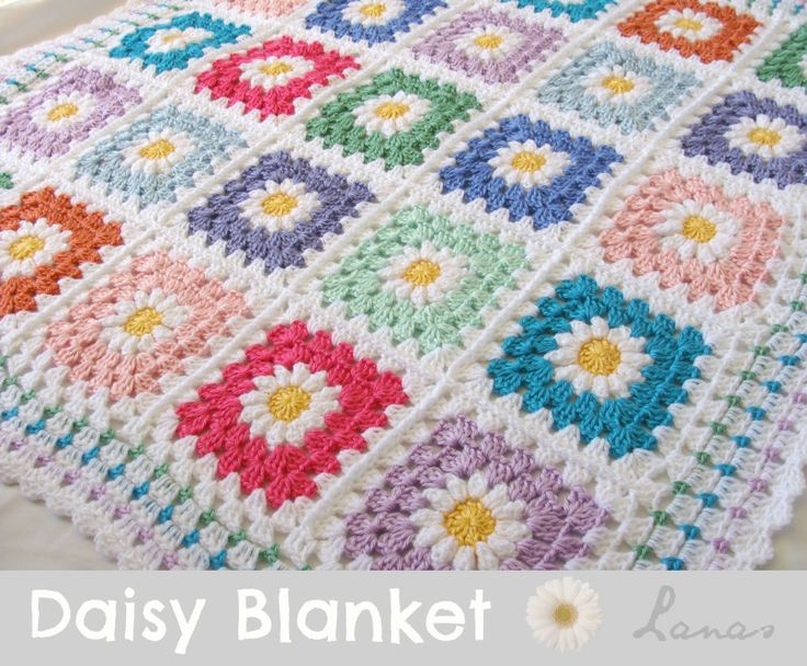 Daisy Blanket made by Lanas de Ana using the Daisy tutorial by Tillie Tulip. Links for the patterns at end of the post.