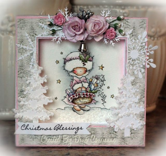 """Dena's Stamping Corner: card featuring LOTV's """"Christmas Goodies"""" stamp... I <3 the little bell!"""