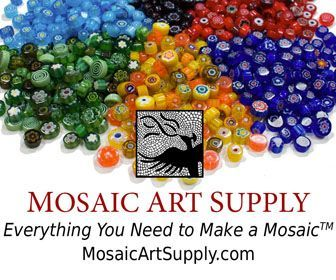 Thinset Mortar The first thing you need to know about outdoor and wet mosaic (pool, fountain, shower) is that thinset mortar is used instead of glue. Thinset mortar is a type of concrete with polym…