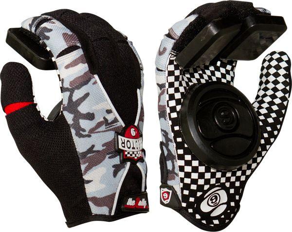 Sec9 Rally Slide Gloves Yth S/M- Camo/Blk