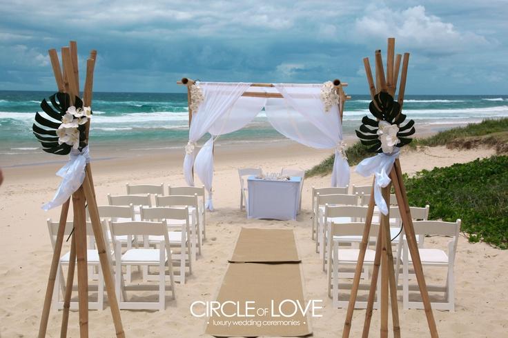 salt beach wedding ceremony http://circleofloveweddings.com.au/