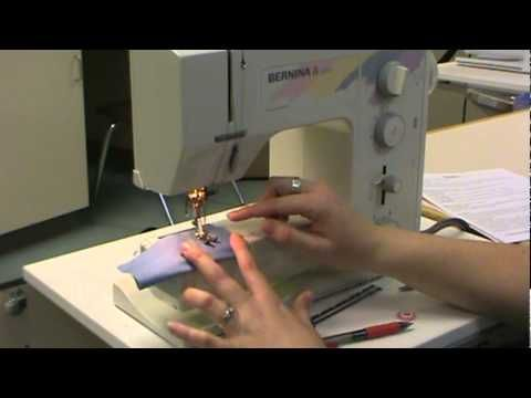 Sewing the button hole on the older Bernina machines