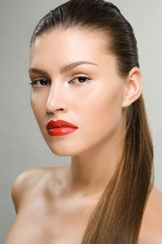 Red lipstick...all time classic!
