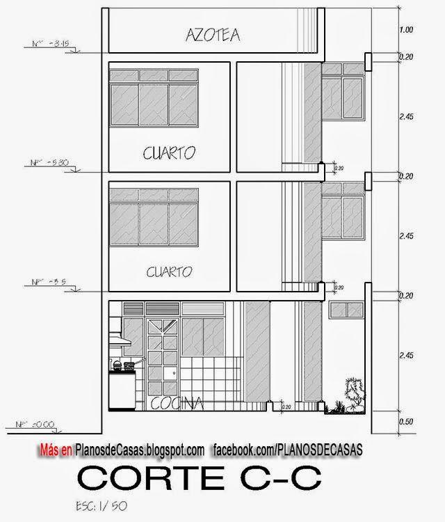 Planos de casa unifamiliar 3 pisos con medidas proyectos for Planos de casas con medidas