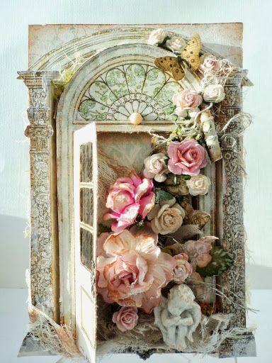 Shabby rose card