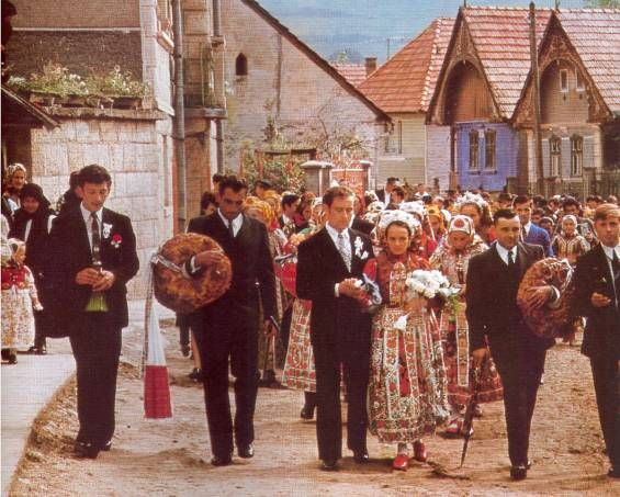 Traditional Magyar folk wedding, Hungary, sometime in the '70s