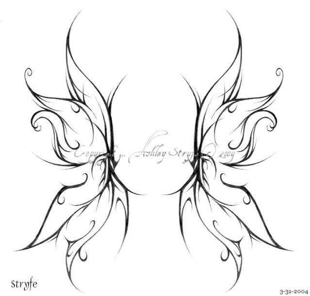 gothic fairies wings | Fairy Wings Tattoo On Back