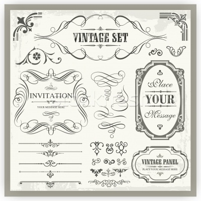1124844_stock-photo-vector-set-of-vintage-ornamental-and-page-decoration-calligraphic-designs.jpg 400×399 pixels