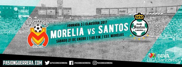 Monarcas Morelia vs Santos Laguna / Torneo de Clausura / Temporada 2016-2017 / Sábado, 21 de Enero de 2017 / Estadio José María Morelos y Pavón / Marcador Final 1-1