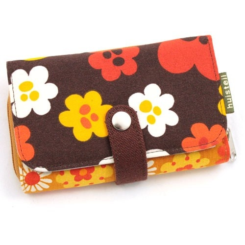 Huisteil portemonnee retro bloemen