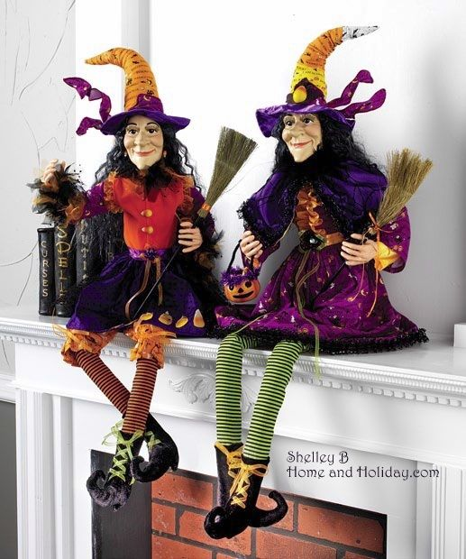 witch figure posable halloween decoration rzh new raz imports - Raz Halloween Decorations