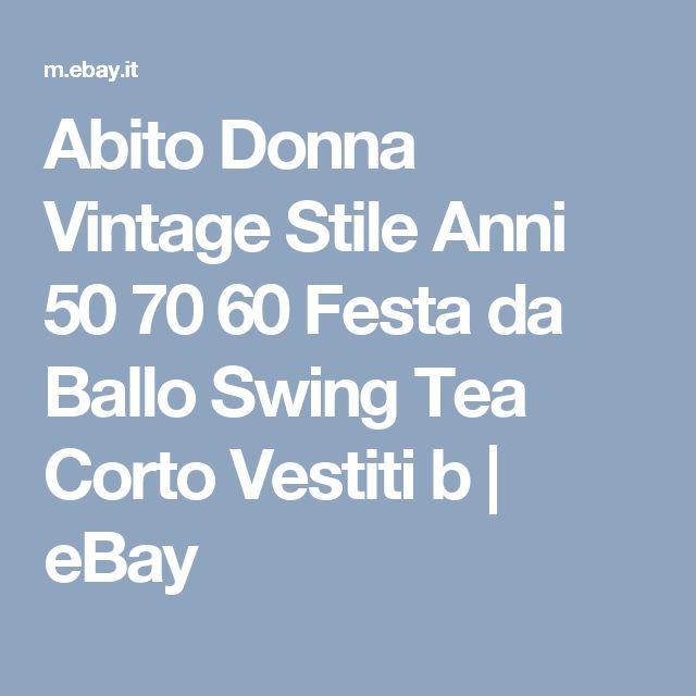Abito Donna Vintage Stile Anni 50 70 60 Festa da Ballo Swing Tea Corto Vestiti b | eBay