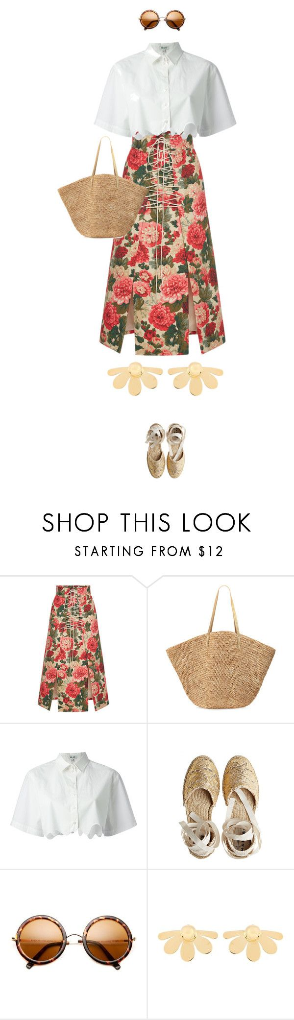 """eva 1421"" by evava-c on Polyvore featuring MSGM, Flora Bella, Kenzo, Castañer and Simone Rocha"