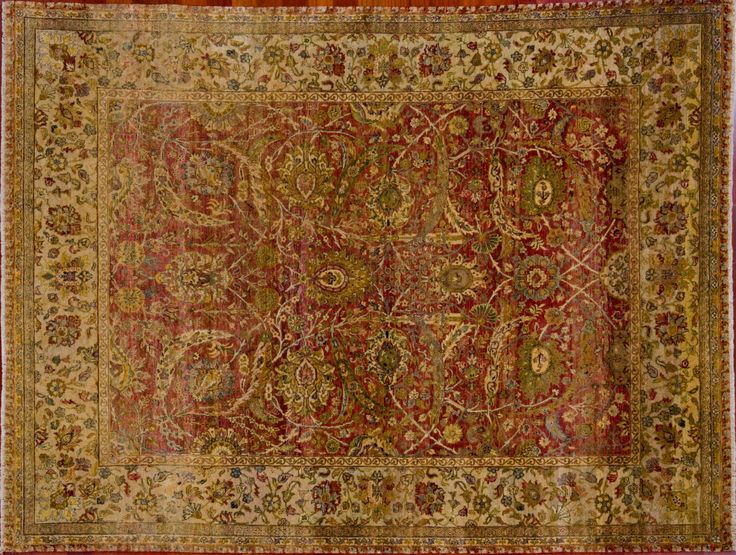 "Oriental Rug - 8' 9"" by 11' 10"" India Agra 100% Wool Rectangular Rug 