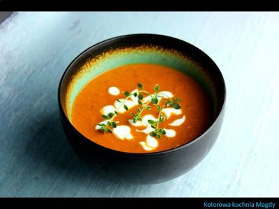 Kolorowa Kuchnia Magdy: Krem z pieczonej papryki
