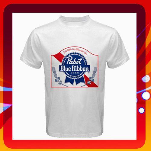 PABST BLUE RIBBON T-Shirt PBR BEER Logo Men Tee Shirt Size S to 3Xl. Brand New! #Gildan #GraphicTee