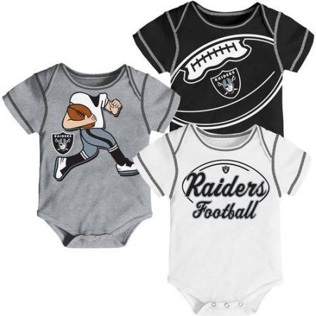 NFL, Team: Raiders ,NB/INF 3 Pack Creepers, Team Color/Grey/Alternate Team Color, Assorted