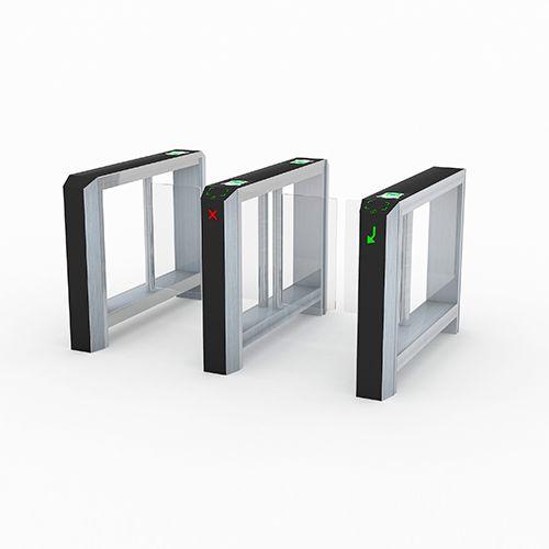 Распашной сенсорный турникет Axioma #турникеты #готшлих #полуростовые #распашные #gotschlich #half-height #turnstiles #swing #gates