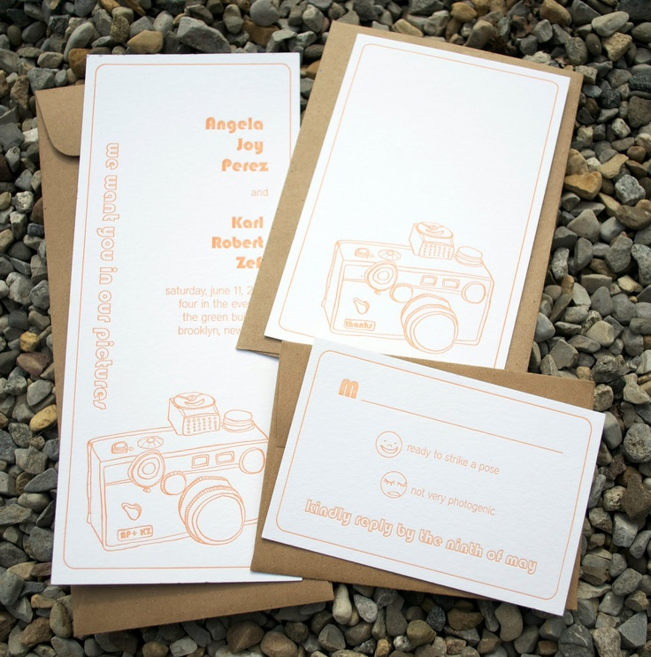 how to make film canister wedding invitations%0A Another camera inspired wedding invite
