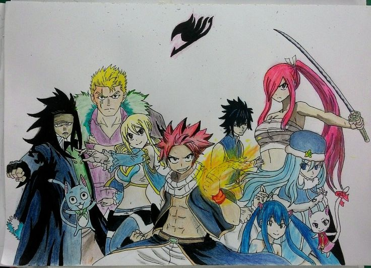 My Drawing Anime Fairy Tail. Request by my friends