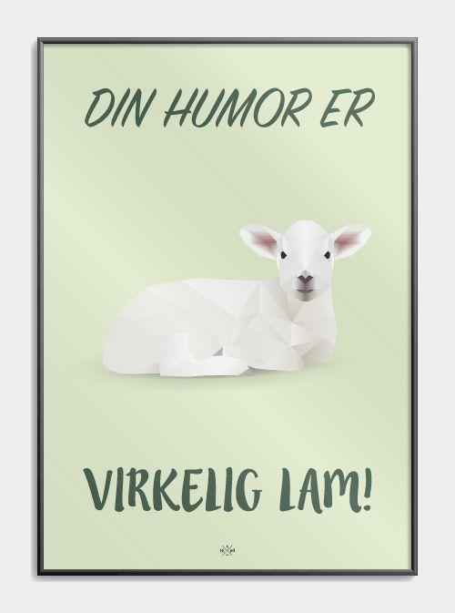 din_humor_er_virkelig_lam_plakat