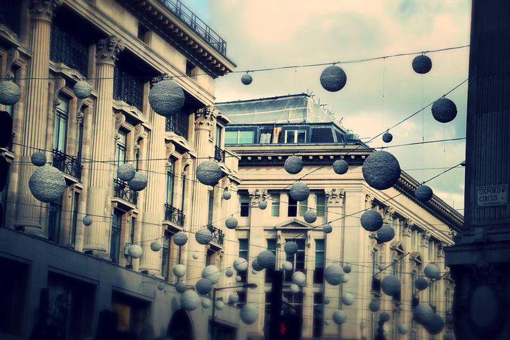 Oxford street in London.