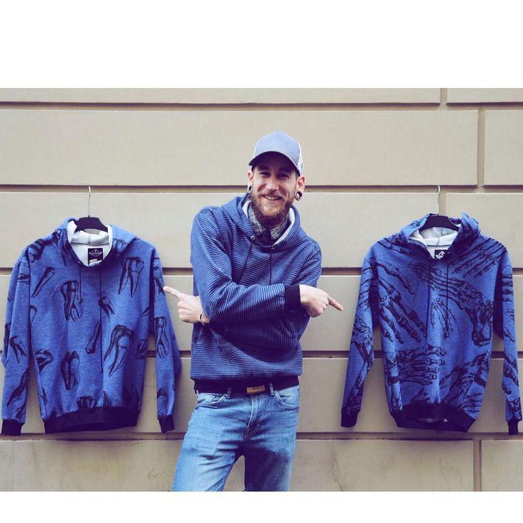 Warm up 💨 soft unisex hoodie szputnyikshop blue anatomy pattern sweatshirt
