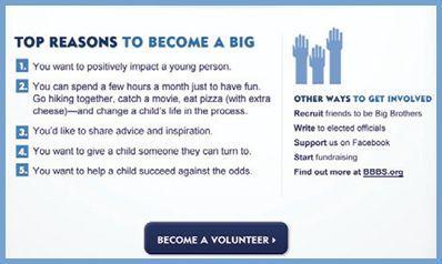 Big Brother Big Sister Information on Becoming a BIG Volunteer