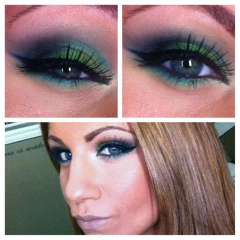 Smokey green w/ bh cosmetics 120 color palette (2nd edition)