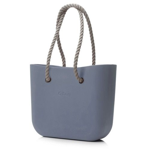 O bag in Steel Grey with Natural Rope Handle