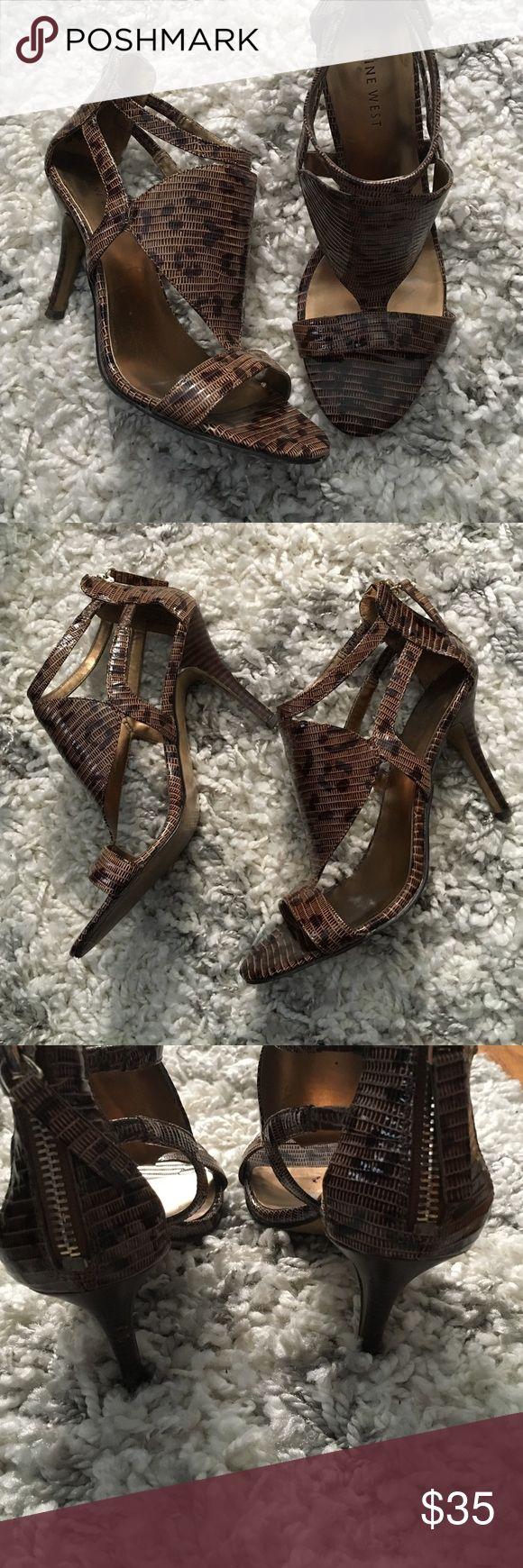 Selling this Nine West animal print heeled sandals on Poshmark! My username is: khewitt1. #shopmycloset #poshmark #fashion #shopping #style #forsale #Nine West #Shoes