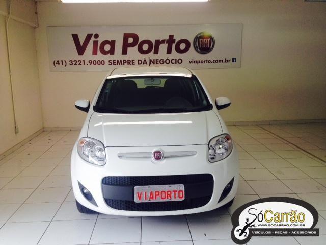 Fiat PALIO ATTRACTIVE 1.4 4P Branca 2015 - Flex - SóCarrão Curitiba - 2504043
