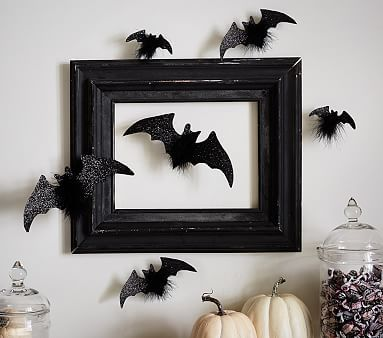Ok- These are too cute!  Bat stick ons.  I love these. -Jennifer Bat Stick Ons #pbkids #potterybarn kids, halloween, pottery barn kids, bats, halloween decor