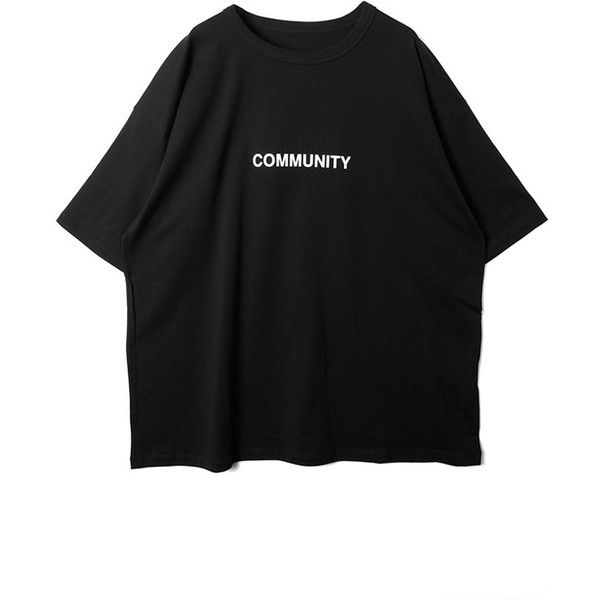 DRESSEDUNDRESSED】COMMUNITY PRINTED OVERSIZED T-SHIRT/BK MEN ...
